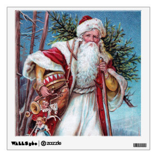 Father Christmas On His Way Wall Sticker
