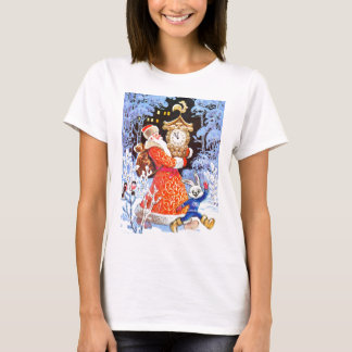Father Christmas, Russian vintage scene T-Shirt