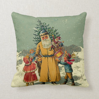 Father Christmas Throw Pillow