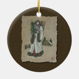 Father Christmas & Toys Ceramic Ornament