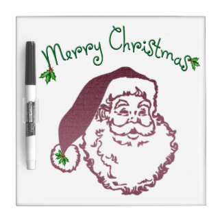 Father Christmas Traditional Art Dry Erase Whiteboards