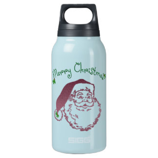 Father Christmas Traditional Art Thermos Water Bottle