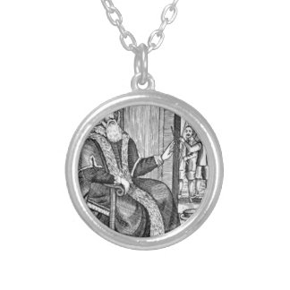 Father Christmas trial Silver Plated Necklace