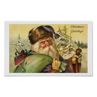 Father Christmas - Vintage Art Poster