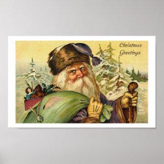 Father Christmas - Vintage Art Poster