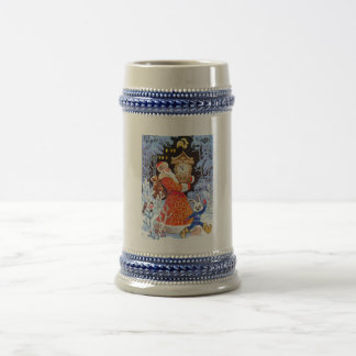 Father Christmas, vintage Russian scene Beer Stein