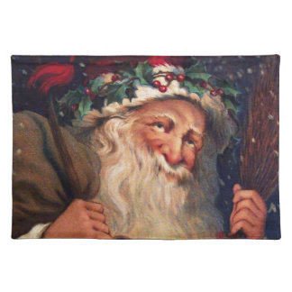 Father Christmas with Lantern Cloth Placemat