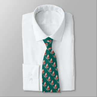 father christmas wrapping gifts original art tie