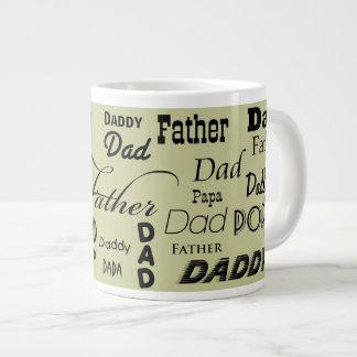 Father Dad Daddy Papa Jumbo Mug 20 Oz Large Ceramic Coffee Mug