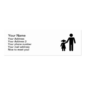 Father dad daughter girl mini business card