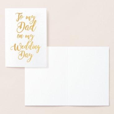 bridalwedding Father Dad of the Bride or Groom Wedding Thank You Foil Card