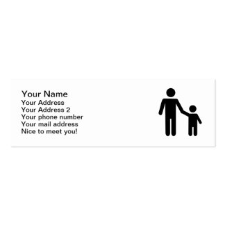 Father dad son boy business card template
