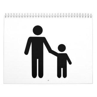 Father dad son boy calendar