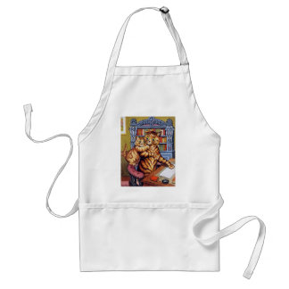 Father(Daddy) cat, Louis Wain Adult Apron
