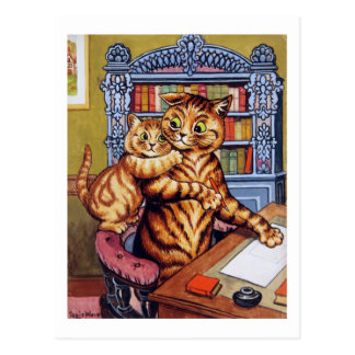 Father(Daddy) cat, Louis Wain Postcard