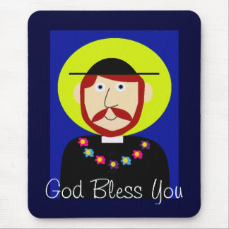 Father Damien of Molokai Mouse Pad
