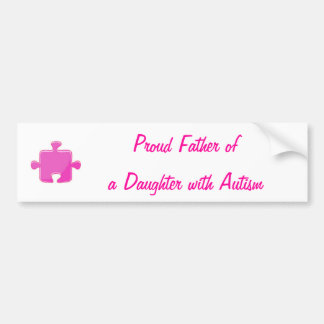 Father Daughter Autism Bumper sticker
