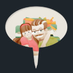 "Father &amp; daughter cake topper<br><div class=""desc"">Father &amp; daughter illustration picture frame</div>"