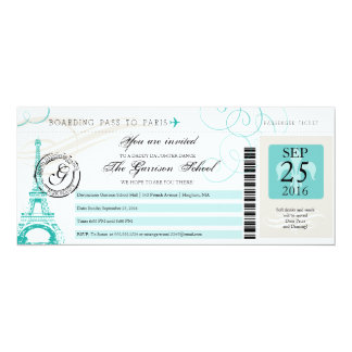 Father Daughter Dance Paris Boarding Pass Card