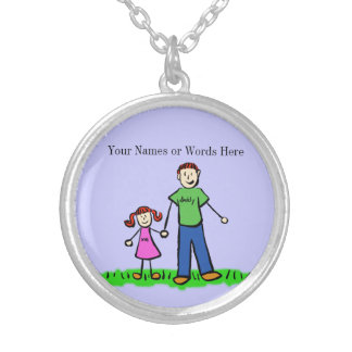 Father Daughter Jewelry Custom Art Necklace