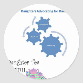 Father/Daughter Tea Classic Round Sticker