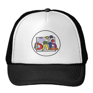 """Father Day """"Dad"""" card Trucker Hat"""
