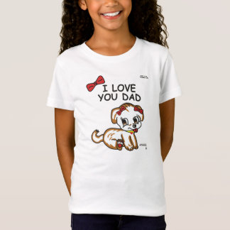 Father Day Gift Angel I Love You Dad T-Shirt