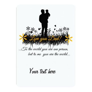 Father Day quote Card
