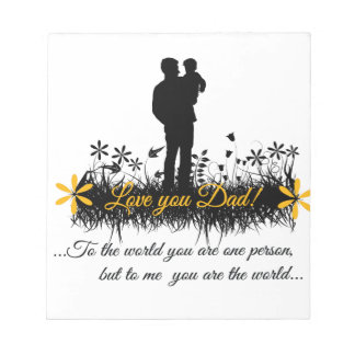 Father Day quote Memo Notepad