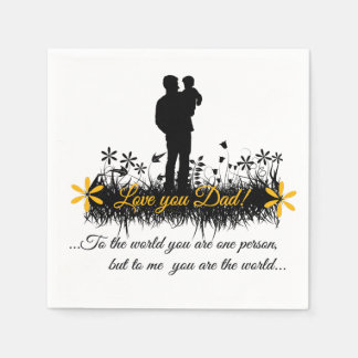 Father Day quote Paper Napkins