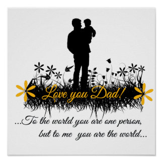 Father Day quote Poster