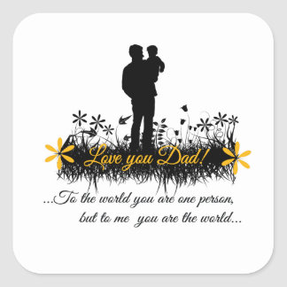 Father Day quote Sticker