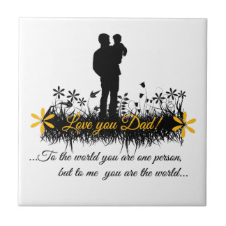 Father Day quote Tile