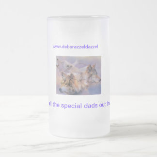 father days special frosted glass beer mug