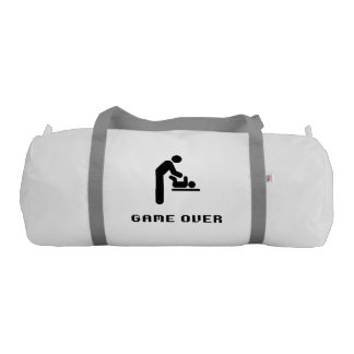 Father Diaper Change Game Over Gym Bag
