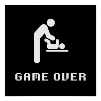 Father Diaper Change Game Over Poster