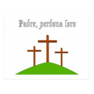 Father Forgive Them card Postcards
