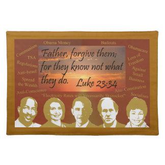 Father Forgive Them Cloth Place Mat