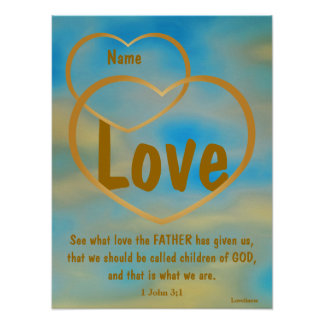 Father God's Love Poster -Customize