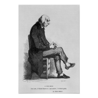 Father Goriot, illustration from 'Le Pere Poster
