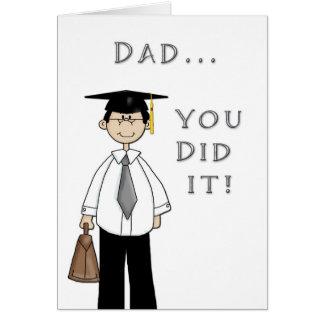 Father Graduate Greeting Card