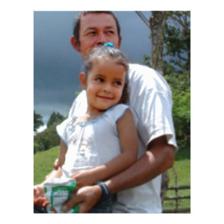 Father Holding daughter in Park Letterhead