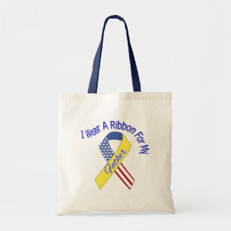 Father - I Wear A Ribbon Military Patriotic Bags