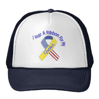 Father - I Wear A Ribbon Military Patriotic Trucker Hat
