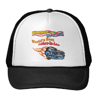Father-in-law Auto Racing Father's Day Gifts Trucker Hat