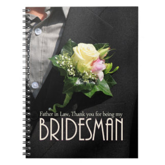 Father in Law Bridesman thank you Notebook