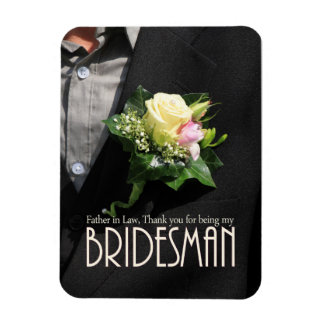 Father in Law Bridesman thank you Rectangular Photo Magnet