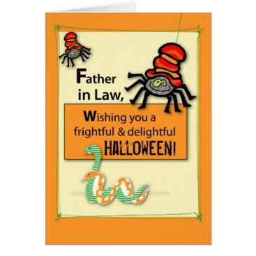 Halloween Themed Father-in-Law Bugs and Hisses Halloween Card
