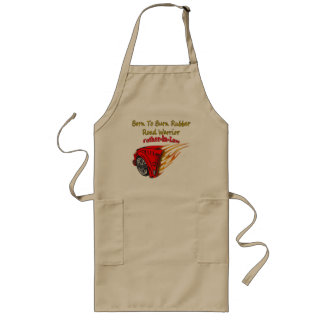Father-in-law Burn Rubber Racing Gifts Long Apron