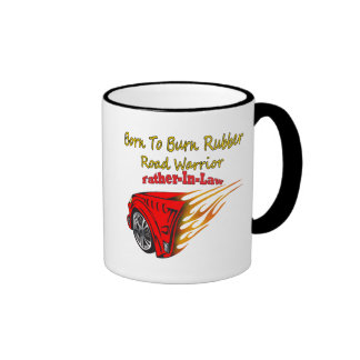 Father-in-law Burn Rubber Racing Gifts Mugs